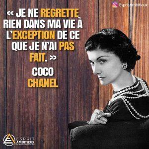 Citations inspirantes action de Coco chanel