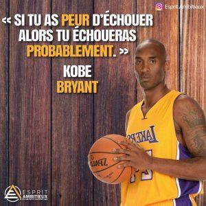CItation inspirante sur l'echec de Kobe Bryant