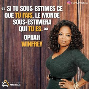 Citation inspirante confiance en soi Oprah