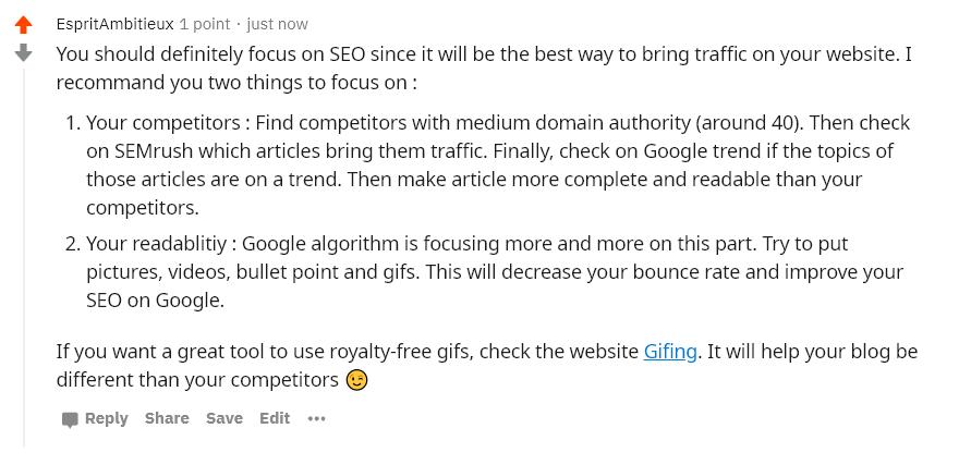 Exemple reddit affiliation